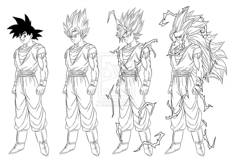 Dibujos Para Colorear De Goku 4 Cómo Dibujar A Goku