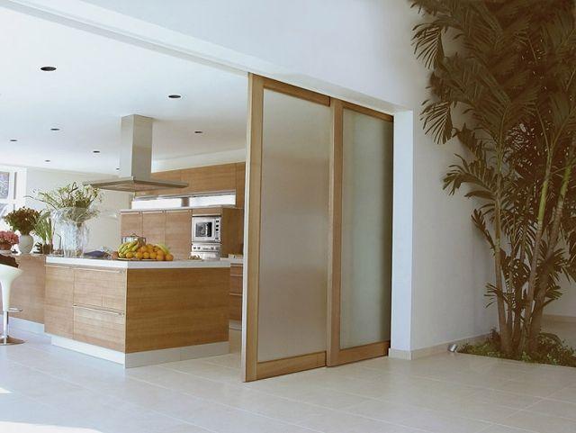 ♥ Schiebetüren innen holz matt glas oberführung schienen küche - schiebetüren für badezimmer