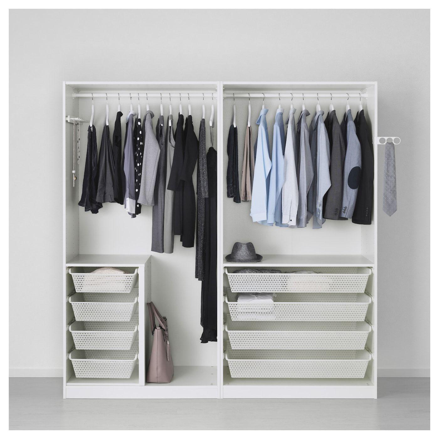 Wardrobe, white, Fardal highgloss light gray, 78 3/4x23 5