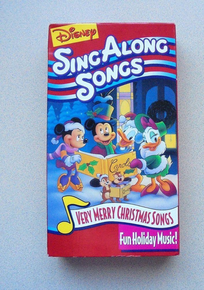 Disney Sing Along Songs Very Merry Christmas Songs.Disney Sing Along Songs Very Merry Christmas Songs Vhs