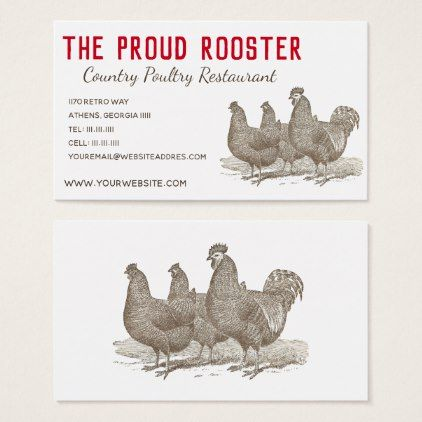 Plymouth Rock Chickens Rooster Business Card Zazzle Com Plymouth Rock Chicken Plymouth Rock Diy Business Cards