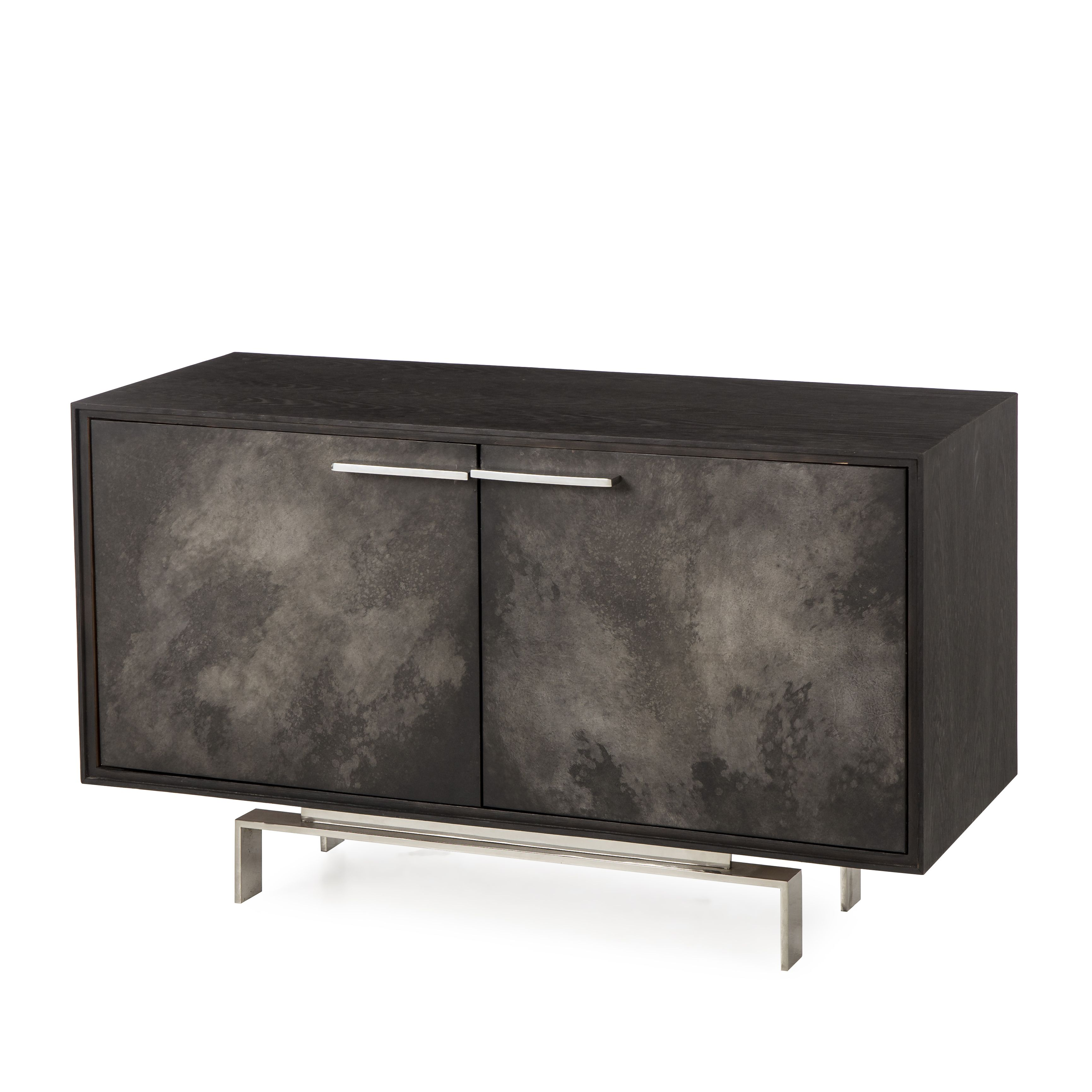 Credenza bodden credenza dyed black oak veneer vellum door credenza bodden credenza dyed black oak veneer vellum door fronts and a stainless small sideboardconsole tablesconsole geotapseo Choice Image
