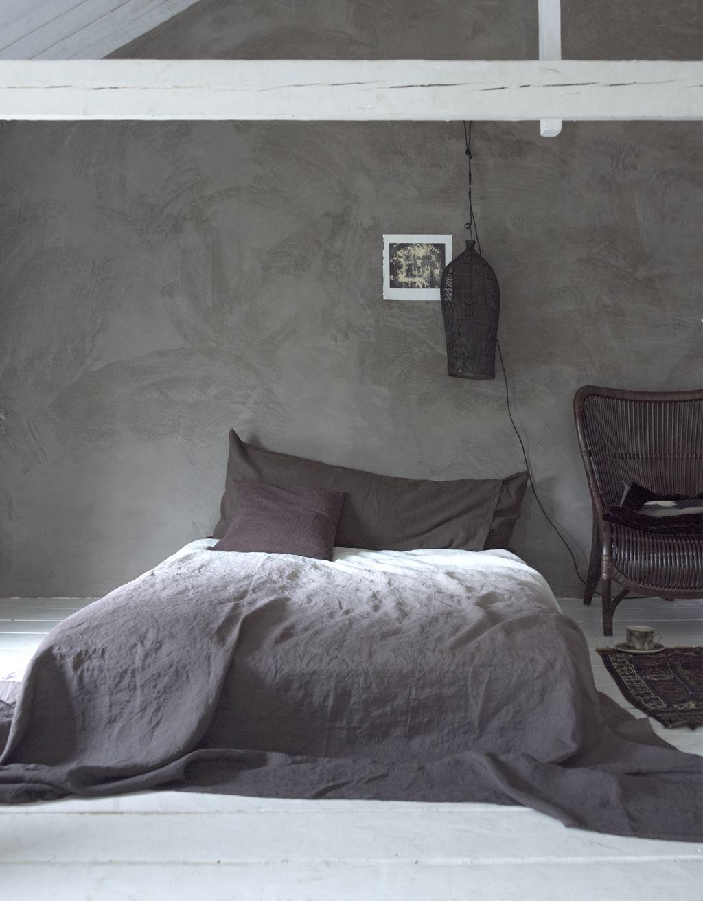 Slaapkamer: grijsbruin, diepbruin en chocoladebruin | дом ...