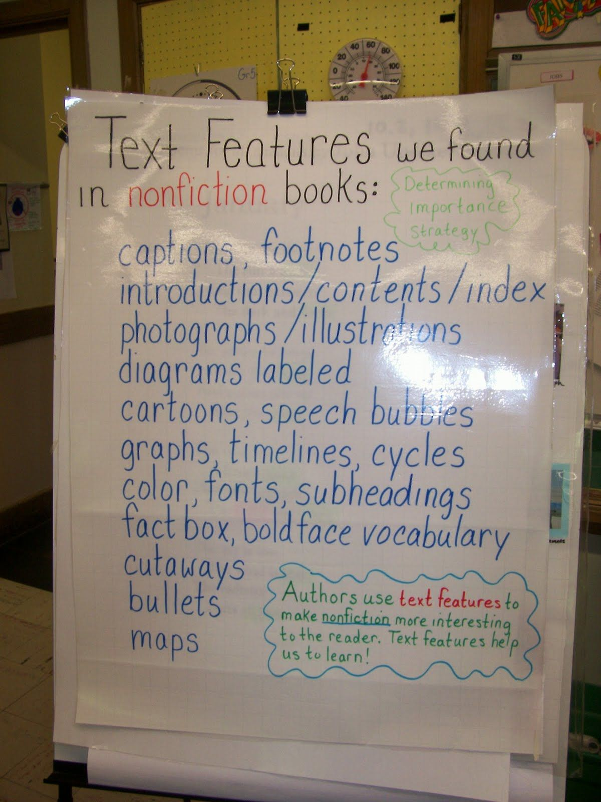 Using Text Features To Answer Questions Worksheets