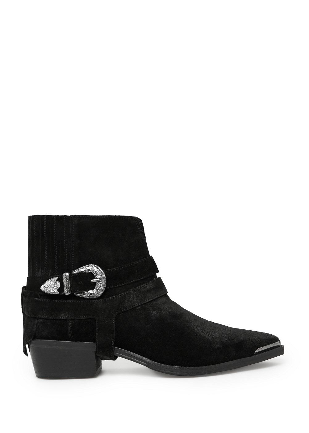 Mango buckle suede ankle boots