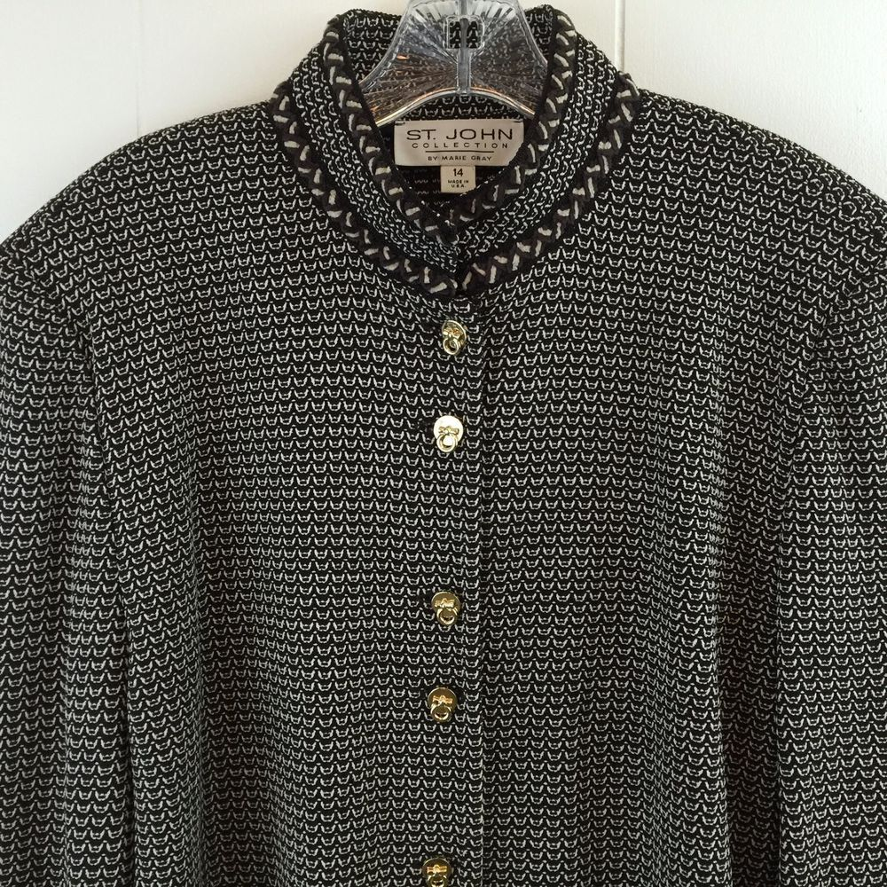 Talbots Plus Size Silk Black Button Down Shirt Top