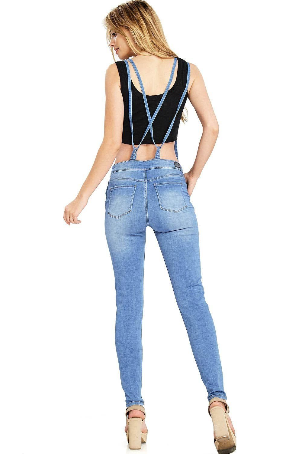 db422d9bbb0 Celebrity Pink Womens Juniors Skinny Leg Denim Overalls S Denim -- Want to  know more