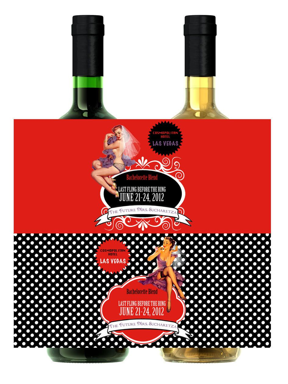 Personalize Printable Pinup Wine Pop Label Digital Custom Birthday Bachelorette Bridal Shower Etc Matches Invitations By Ttlgphotoandgraphics On Etsy Https Ww