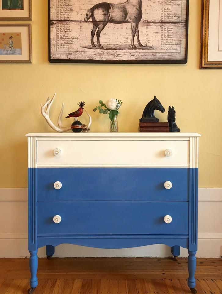 Gorgeous modern dresser painted with Chalk Paint® in Old White and ...