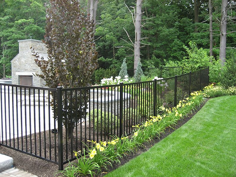 3 Wrought Iron Perimeter Fence With Images Landscaping Along