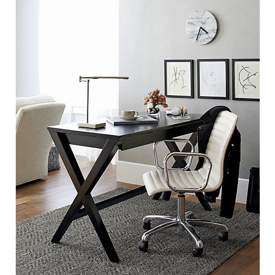 White Marble 12 Clock Modern Home Office Desk Leather Office