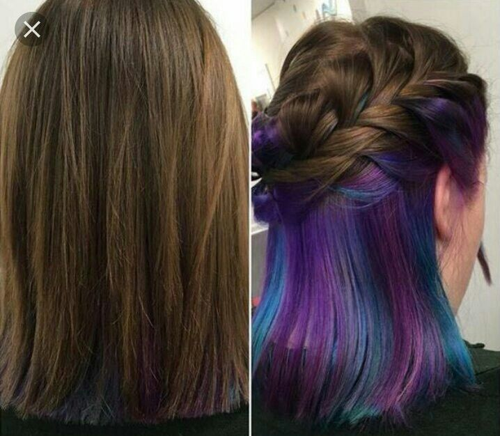 Photos And Apartments From World Wide Web Colorful Magical Hair Styles Whose Brightness Hidden Under Color PurpleBrown