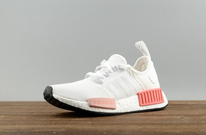 e77815f66ec5f Adidas Original NMD R1 W BY9952 White Pink Real Boost Lady Sneakers Free  DHL Shipping for Online Sale 02