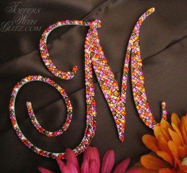 M Font   Single Letter Monogram Font: Francesca (M) Colors: Fuchsia,