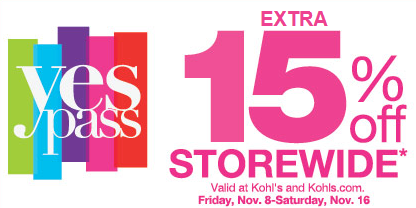 Kohl S Coupon For Extra 15 Off Storewide Kohls Coupons Coupons Kohls Shopping