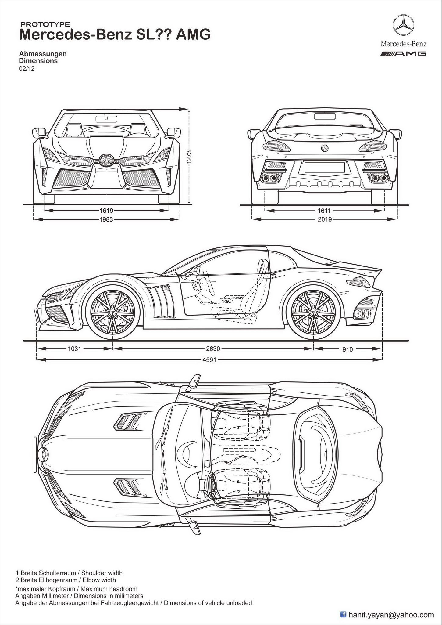 Front View Old Gto Car Drawing