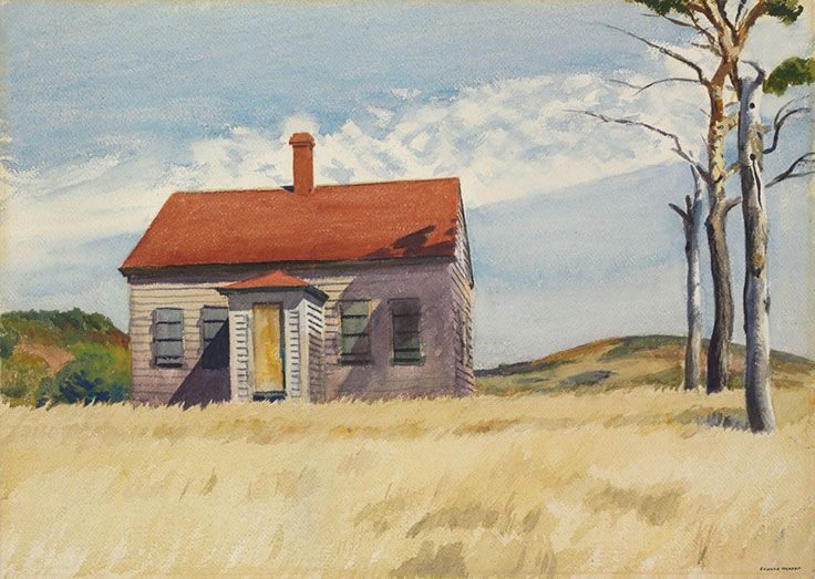 Edward Hopper (1882–1967), House with Dead Trees, 1932. Watercolour on paper. 20 x 28 in. (50.8 x 71.1 cm.)