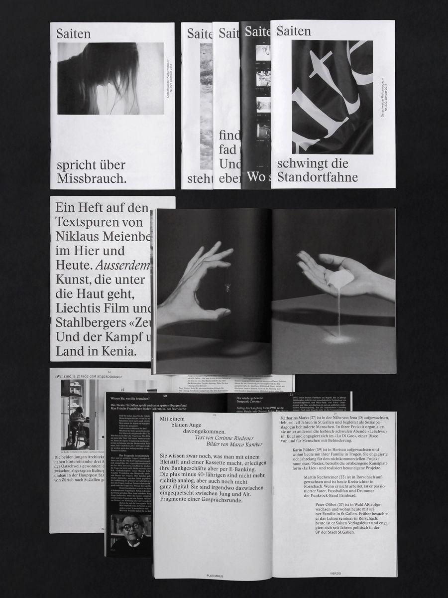 Kasper-Florio Art direction and design for Saiten. In collaboration with Bänziger Hug.