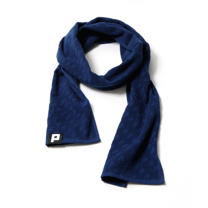 PUNCHI - Deep Blue - #Scarf that's a towel, #Towel that's a scarf