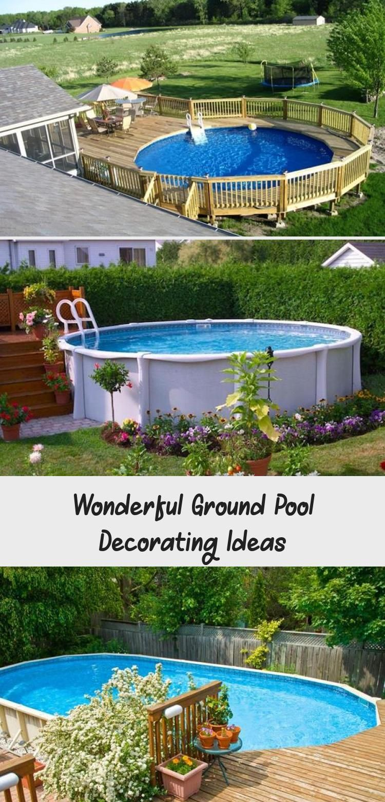 Wonderful Ground Pool Decorating Ideas Decor Pool Decor Inground Pool Landscaping Pool Landscaping