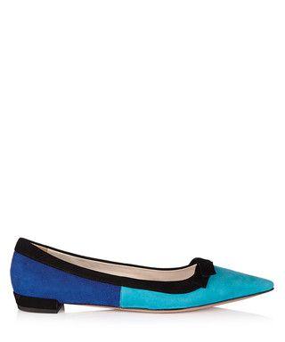 Light   dark blue suede flats Sale - Prada Sale  d73c8eb03