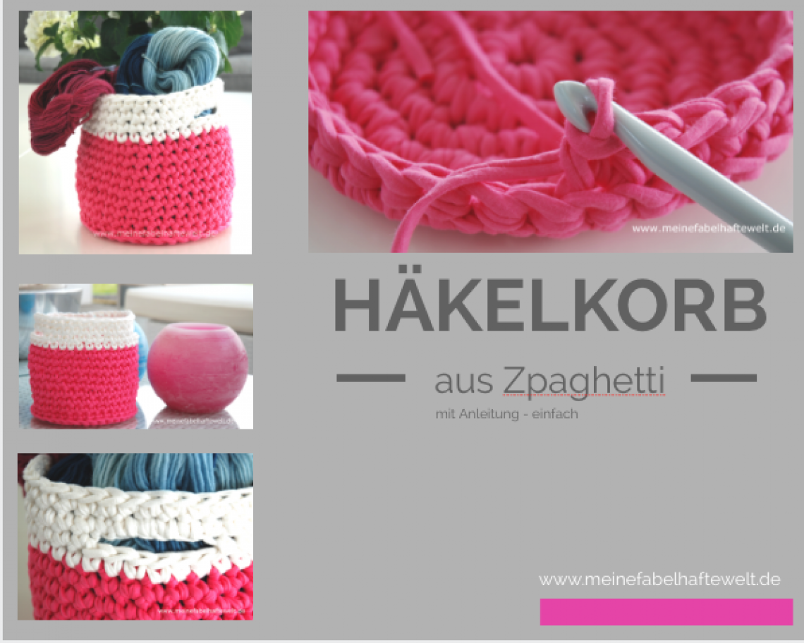Korb Häkeln Ein Nachmittagsprojekt Crochet Knit Crochet And Craft
