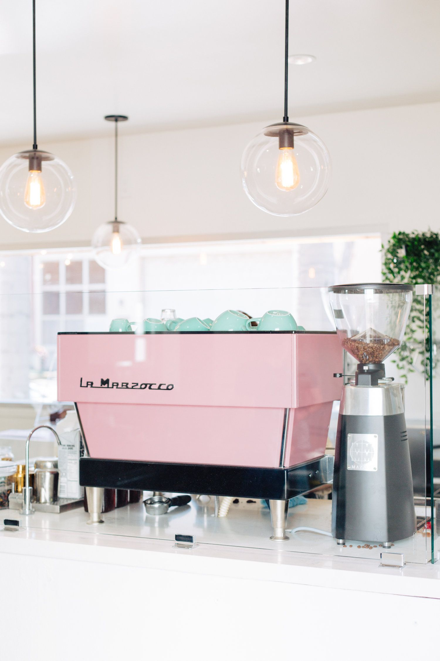 Coffee Dose Coffee Cafe Interior Coffee Shop Business Pink Cafe