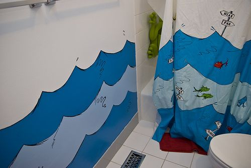 Dr Seuss Bathroom Wall Ideas Haha I Love How The Shower Curtain