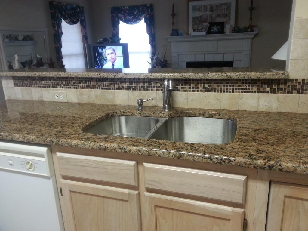 Giallo Napoli Granite With Tile Backsplash Google Search