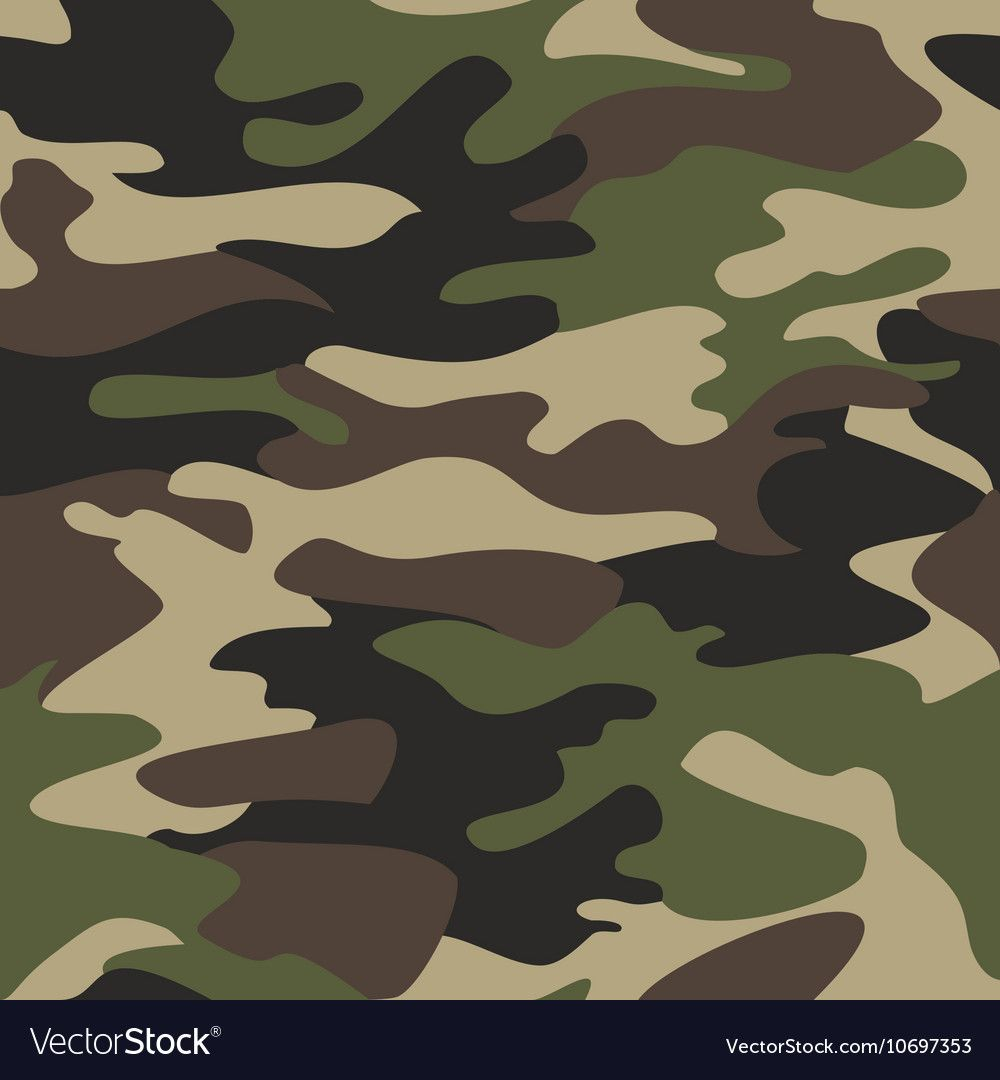 Camouflage Pattern Background Seamless Royalty Free Vector