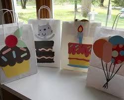 Resultado de imagen para decoracion de bolsas de papel