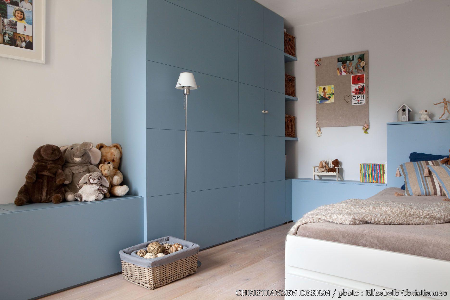 Chambre enfant bleu scandinave