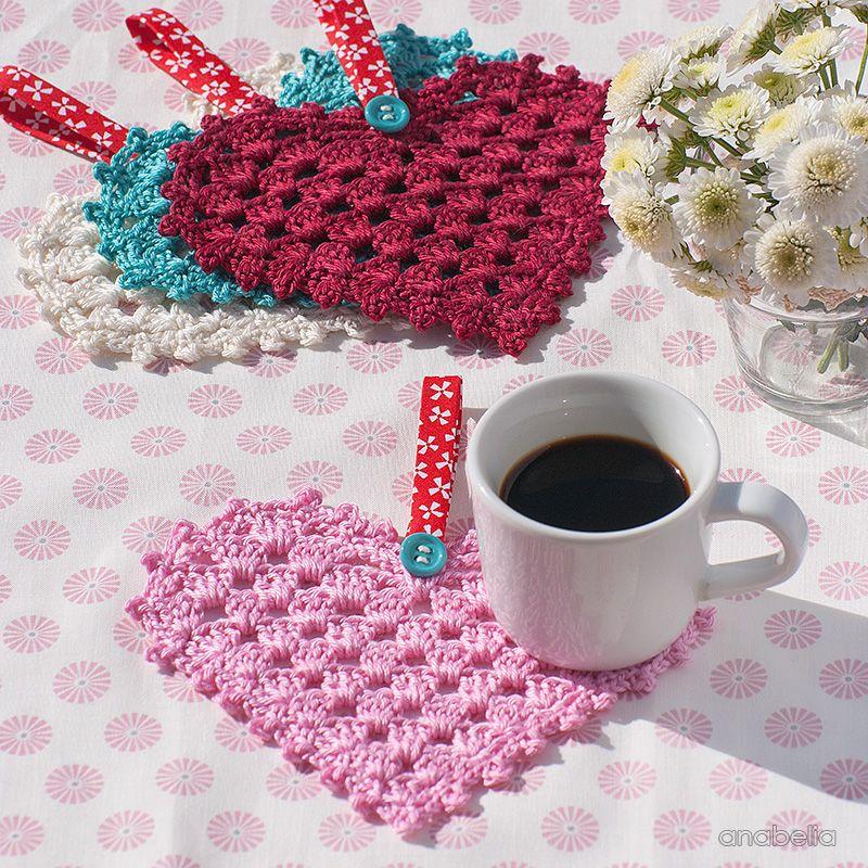 Crochet Granny Hearts, free pattern, Anabelia Craft Design ...