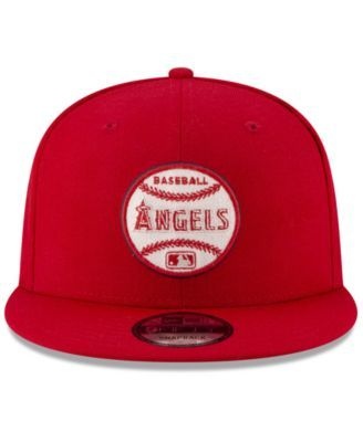 5093e54f88a4a New Era Los Angeles Angels Vintage Circle 9FIFTY Snapback Cap - Red  Adjustable