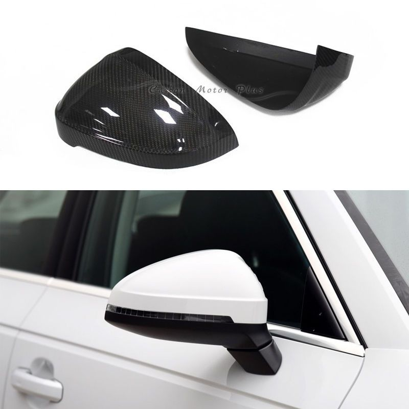 For 2016 Audi A4 S4 B9 A5 S5 Dry Carbon Fiber Side Mirror Cover Cap Add On Type Carbon Fiber Audi A4 Fiber Siding