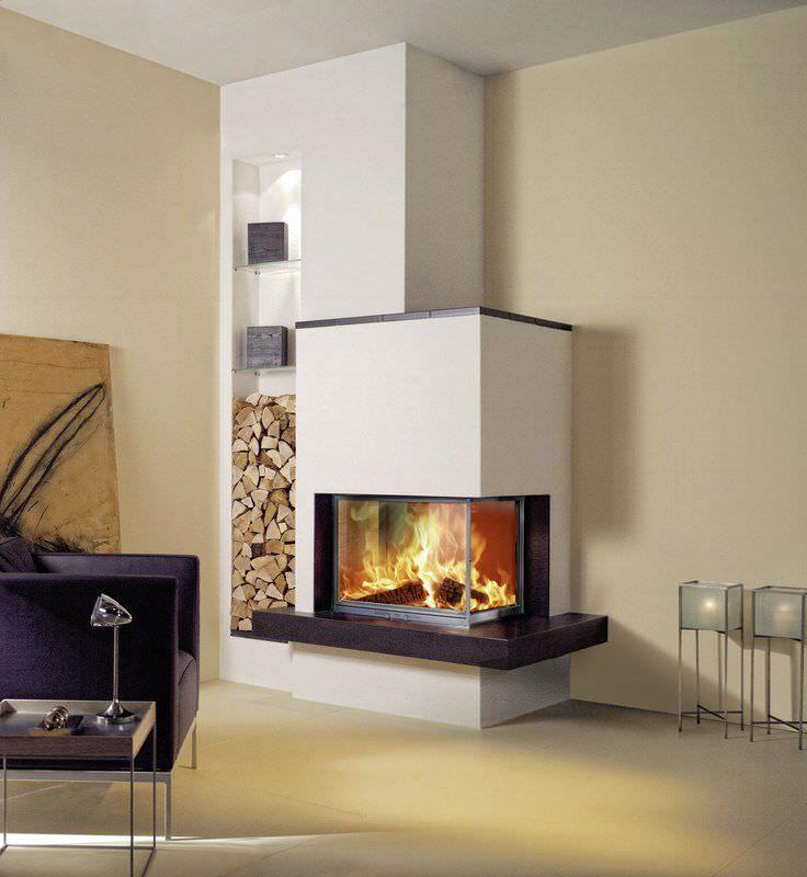 chemin e bois contemporaine foyer ferm d 39 angle iris by maison sommerhuber fondis. Black Bedroom Furniture Sets. Home Design Ideas