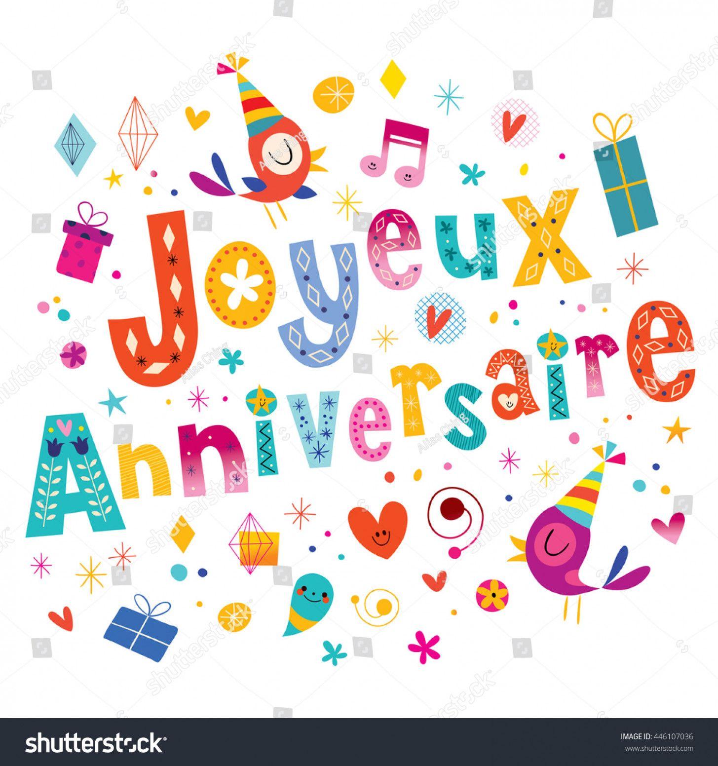 12 Creative Happy Birthday In French Card di 2020 (Dengan