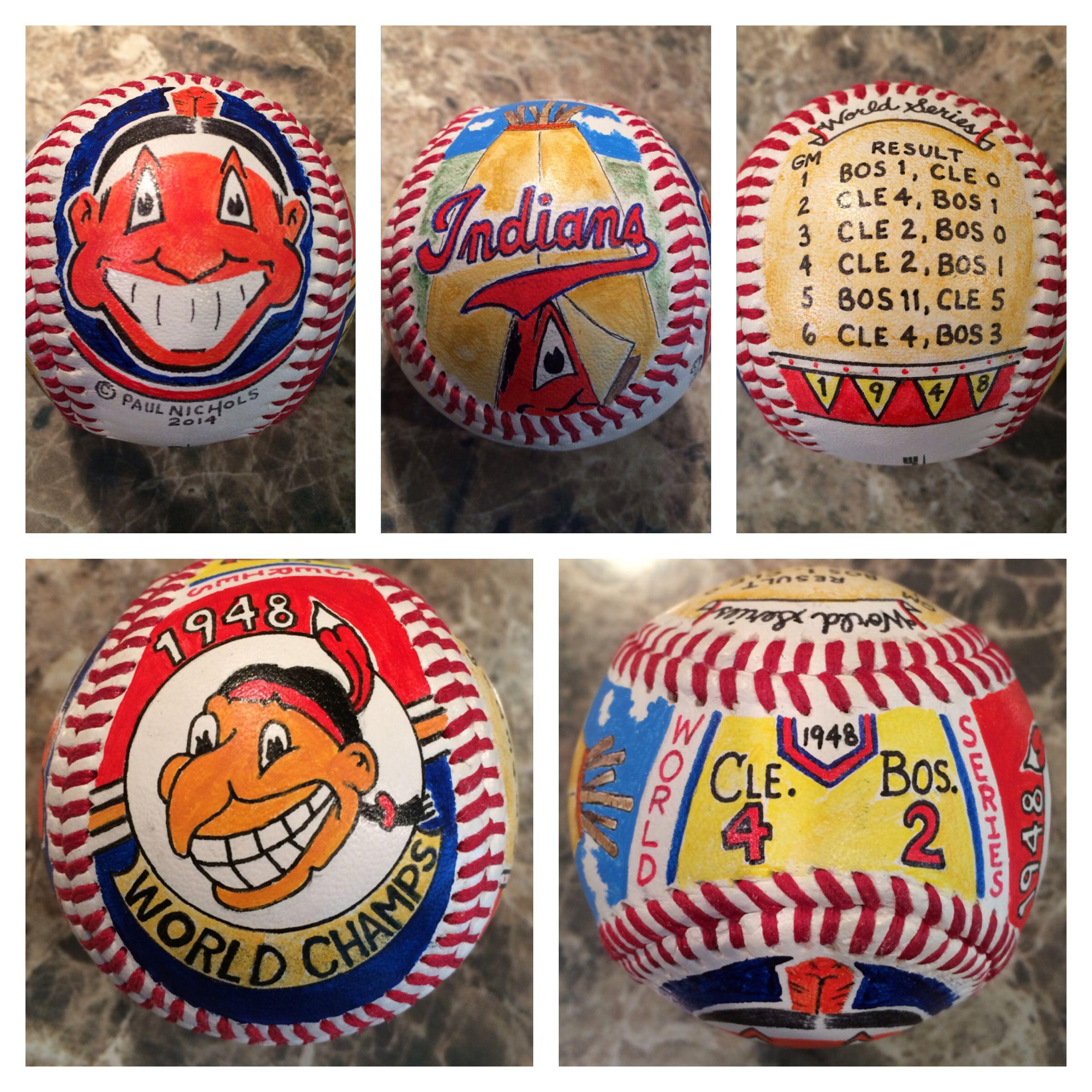 Cleveland Indians 1948 World Series ball