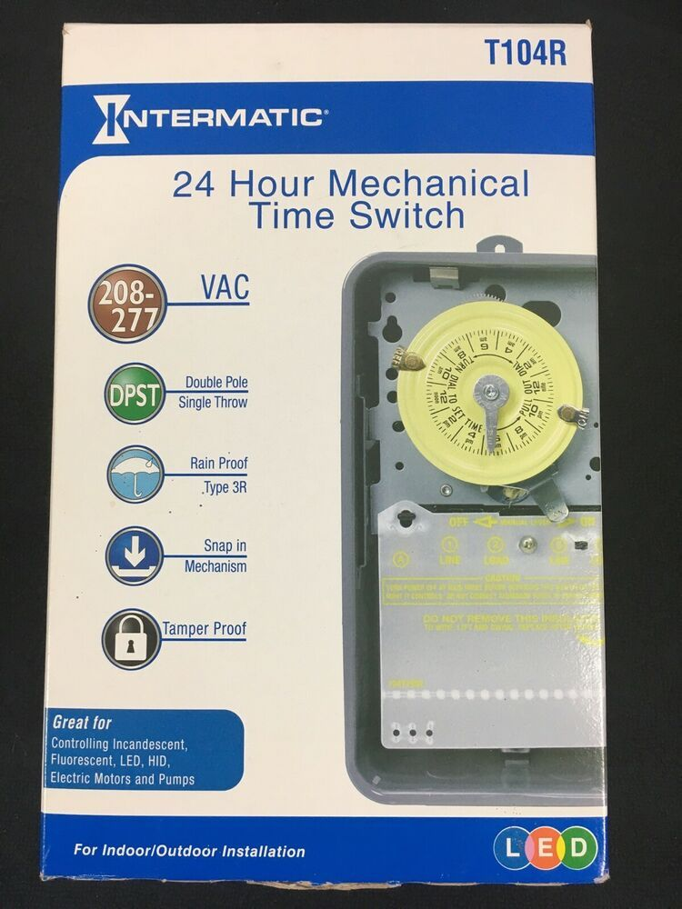 INTERMATIC T174 Electromechanical Timer,24 Hour,Dpst