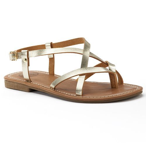 2aa17f5a1fe1 SO® Women s Strappy Thong Sandals