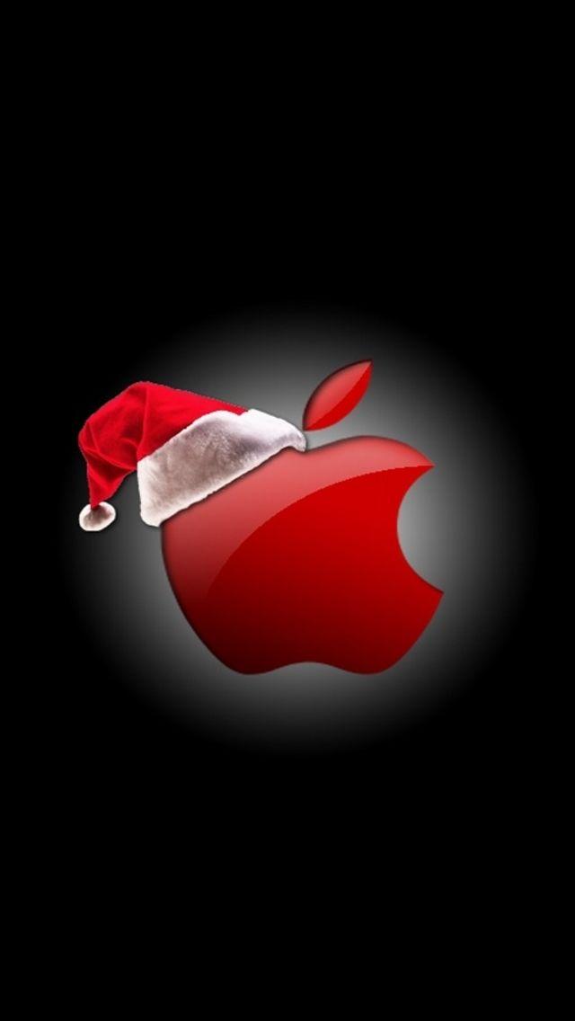 Apple Christmas Logo Wallpaper iphone christmas