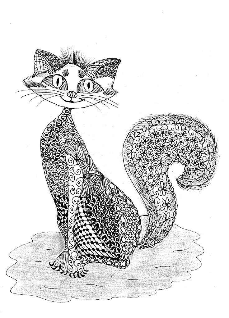 Pin de Linda Sayers en Animals | Pinterest | Mandalas, Gato y Tribales