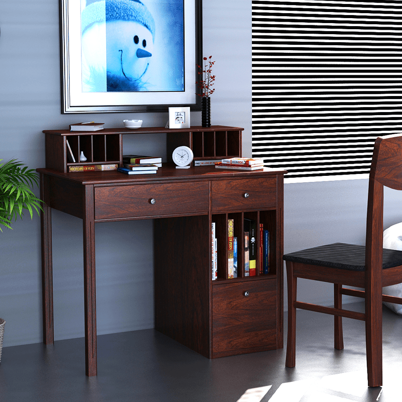 The Cassidy Study Table Has Ultimate Design And Great For Study Room It Has Several Shelves To Keep Books Cd And Dvd Separately As Per Your Requirement