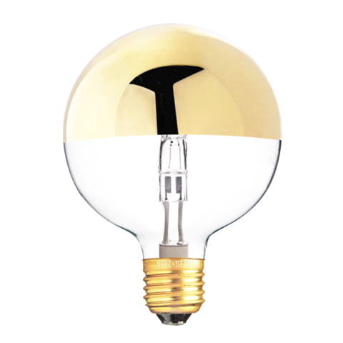 Gold Medium Top Crown Bulb 42w Bulb Light Bulb Halogen Bulbs