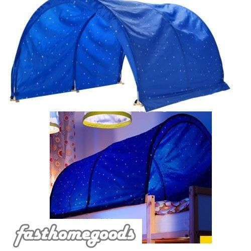 design with ikea bed tent - Saferbrowser Yahoo Image Search Results  sc 1 st  Pinterest & New IKEA KURA Bed Canopy/Tent Blue White Star Kids #IKEA | Stuff ...