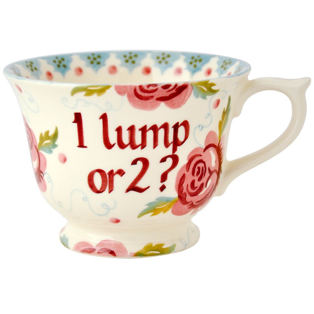 Personalised Rose & Bee Large Tea Cup