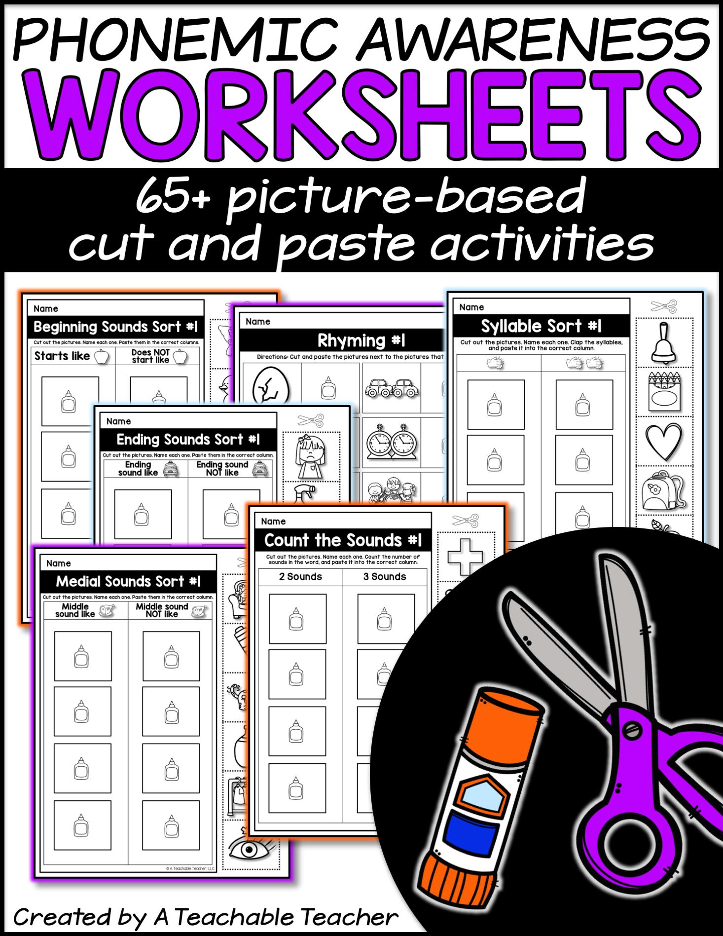 Free Phonemic Awareness Worksheets