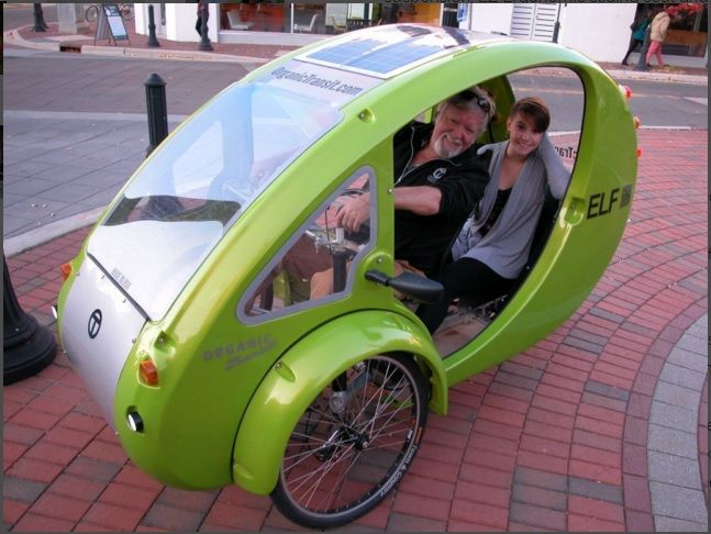 Organic Transit Bike Car 1800 Mpg Electric Bike Solar Power Solar
