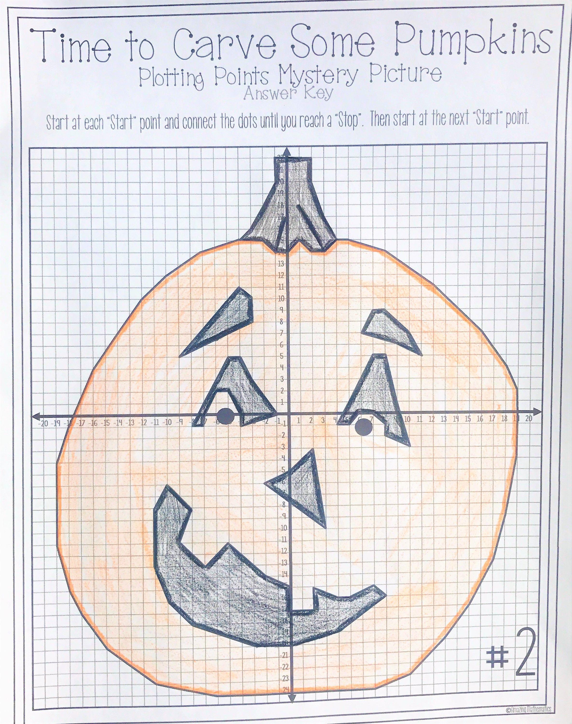 Halloween Math Activity Pumpkin Carving Plotting Points Mystery Picture Halloween Math Activities Halloween Math Worksheets Halloween Math [ 3003 x 2372 Pixel ]