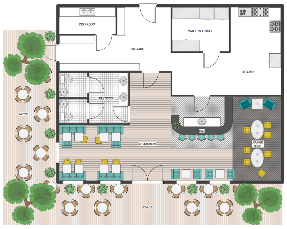 Floor Planner Restaurant Outdoor Area Patio Plan Restaurant Plan Restaurant Floor Plan Floor Planner